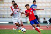 AFC U-16 Championship Korea Republic and Syria — Photo