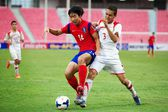 AFC U-16 Championship Korea Republic and Syria — Stock Photo