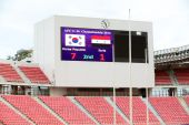 AFC U-16 Championship Korea Republic and Syria — 图库照片