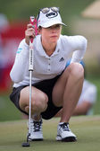Paula Creamer of USA watches lines up — Stock Photo