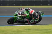 Superpole 2 at the World Superbike Championship — Stock Photo