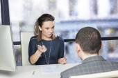 Tough job interview  — Stockfoto