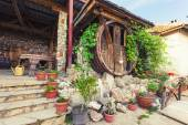 Exterior of a wine house — Stock Photo