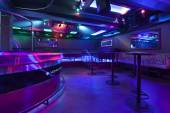 Nightclub with colorful lights — Stock Photo