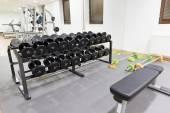 Exercise equipment in gym — ストック写真