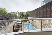 View at pool from balcony — Stock Photo