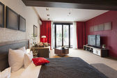 Luxury studio apartment interior — Stock Photo