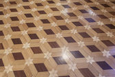 Hardwood floor with six pointed star pattern — Stock Photo