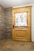 Closed back door on a house  — 图库照片