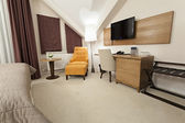 Interior of a hotel room — Stock Photo