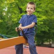 Cute boy on a see-saw — Stock Photo #56047849
