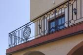 Iron baluster on a house — Stockfoto