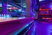 Nightclub interior with neon lights — Stock Photo