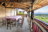Wooden house terrace view — Zdjęcie stockowe