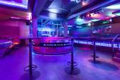 Modern nightclub with colorful lights — Stock Photo