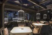Interior of a stylish restaurant — Stock Photo