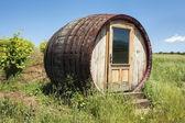 Barrel-shaped room by the vineyards — Foto de Stock