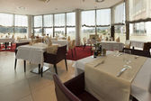 Bright restaurant interior — Stock Photo