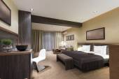 モダンで豪華な寝室のインテリア — ストック写真