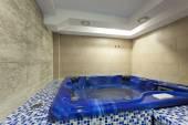 Hydromassage tub at spa center — Stock Photo
