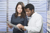 Business couple at work — Stock Photo