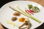Basic ingredients for Thai cooking — Stock Photo
