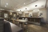 Interior of a modern cafe — Stock Photo