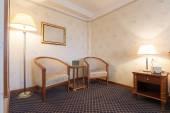 Elegant hotel room interior — Stock Photo