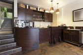 Coffee bar in hotel cafe — Stock Photo