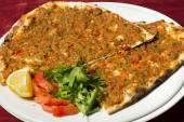 Turkish pizza - Lahmacun — Stock Photo