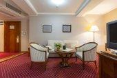Inteiror of a luxury hotel room — Stock Photo
