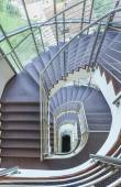 Stairs in a modern building shot from above — Stock Photo