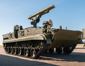 ZHUKOVDKIY, RUSSIA, AUGUST 13, Oboronexpo-2014 exhibition. BMPT is an armored fighting vehicle from Russia. — Foto de Stock