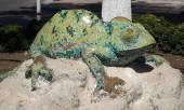 Escultura de camaleão — Foto Stock