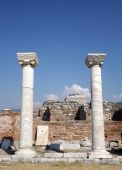 Columns Basilica St. John in Selcuk Turkey — Stock Photo