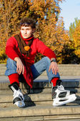 Skates people sleap — Stock Photo