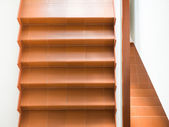 Modern stairs with handrail interior — Stock Photo