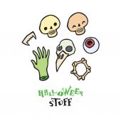 Halloween scull vector set for design — Stock Vector