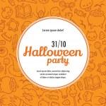 Halloween vector invitation template — Stock Vector #52616699