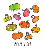Halloween vector pumpkin icons set — Stock Vector