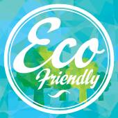 Eco amigable etiqueta — Vector de stock