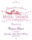 Invitation bridal shower card with sakura vector template — Stock Vector