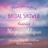 Invitation bridal shower card vector template — Stock Vector