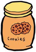 Ceramic cookie jar vector illustration — Stock Vector