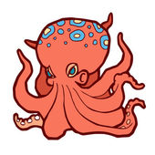 Bright colored octopus — Stock Vector