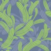 Green grass seamless background vector — Stockvector