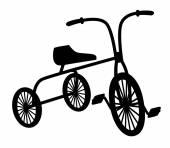 Kids bicycle — Stock Vector