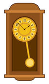 Old retro wall clock — Vetor de Stock