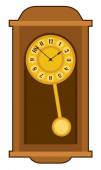 Old retro wall clock — Stockvector