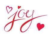 JOY sign with hearts — Stock Vector
